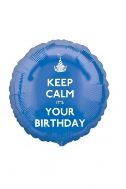 Круг KEEP CALM IT'S YOUR BDAY синий